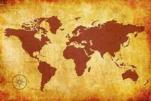 Carte Du Monde Deco : info carte du monde vintage voyages cartes ~ Teatrodelosmanantiales.com Idées de Décoration