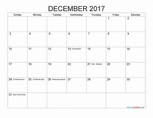 Free Printable Calendar December 2017 as PDF and Image ...