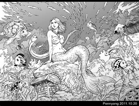 1000+ Images About Mermaid Coloring! On Pinterest