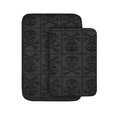 garland rug skulls black      washable bathroom