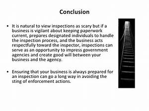 What To Do When a Government Inspector Knocks On Your Door