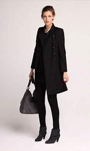 Manteau en laine noir style officier petite robe noire 1 2 for Petite robe noire en laine