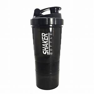 Sports Fitness Nutrition Protein Shaker Water Bottle With Three