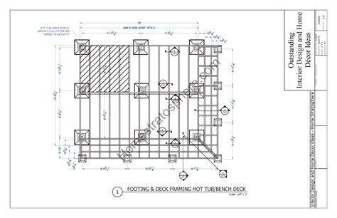 hot tub deck design plan     images