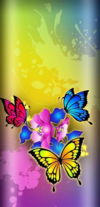 Butterfly Butterflies Iphone Flowers Wallpapers Cellphone Abstract