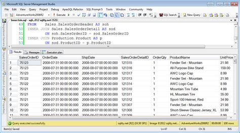 sql join 2 tables a join a day the inner join sqlity net