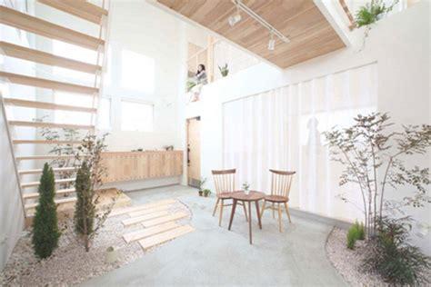 domestic bliss zen garden style living room atrium space