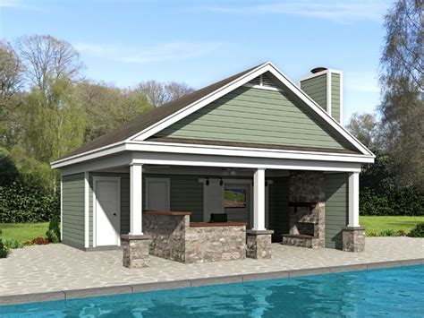 pool house plans pool house plan  outdoor living