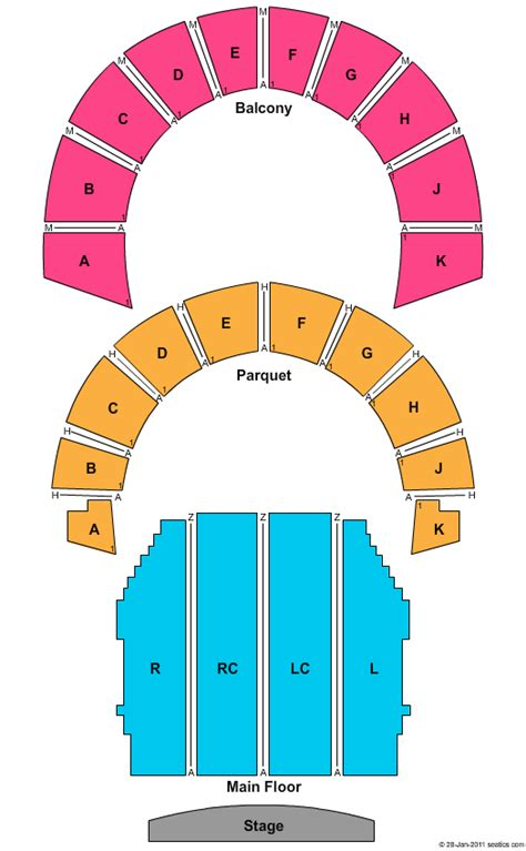 Lowell Auditorium Seating Chart