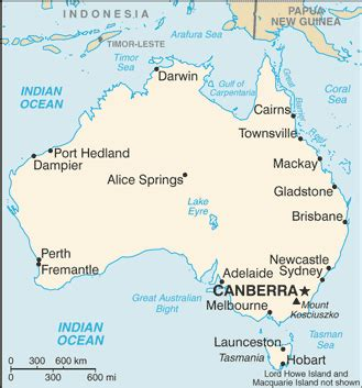 Carte Australie Ville by List Of Cities In Australia