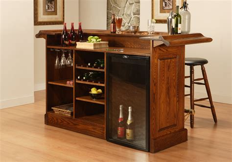 Home Bar Furniture by Bar With Wine Storage And Stools Eco Friendly Wood Home