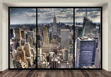 wallpaper mural photo  york skyline wall decor paper