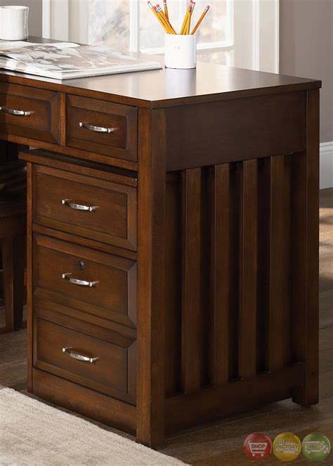 hampton bay cherry finish  shaped home office desk