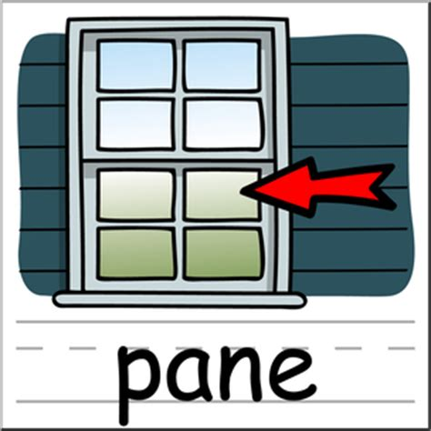 Clipart Pane by Clip Basic Words Pane Color Labeled I Abcteach