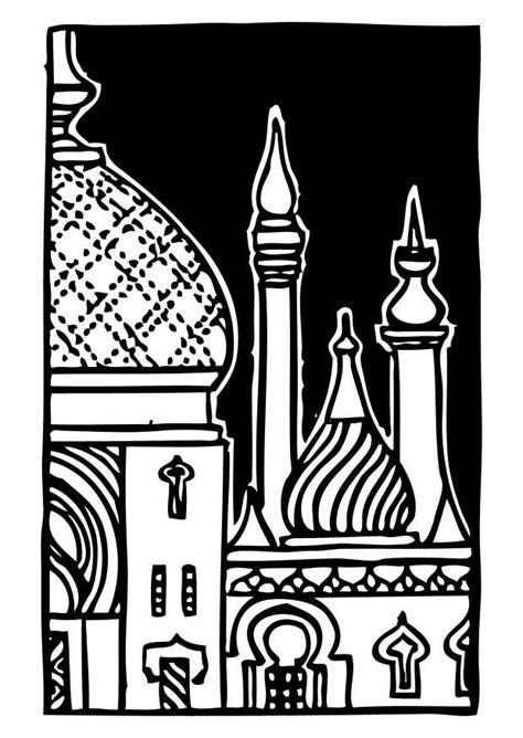 Moskee Kleurplaat by Kleurplaat Minaret Afb 10561