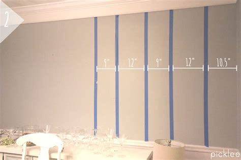 Streifen Auf Wand Malen by How To Paint Simple Wall Stripes Diy Picklee