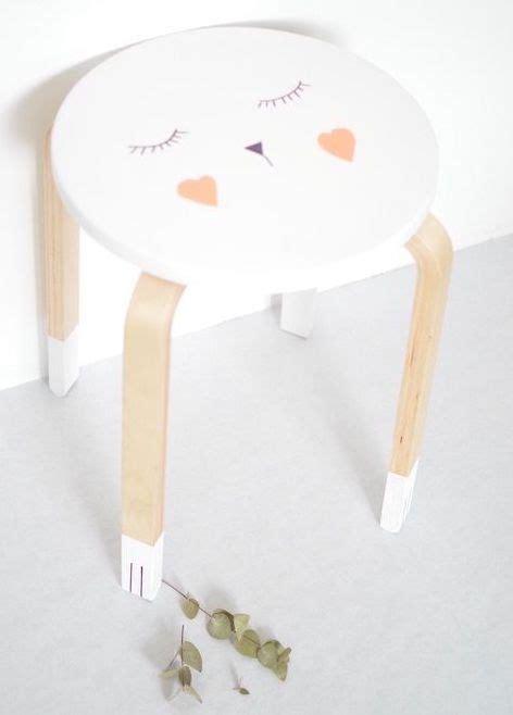 Ikea Hocker Kinderzimmer by Diy F 252 R Kinderzimmer Ikea Hocker Lackieren Und Mit Edding
