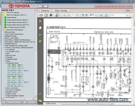 Toyotum Electrical Wiring Diagram by Wiring Diagrams For Toyota Hiace