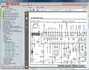 Toyota Hiace S B V   Repair Manuals Download  Wiring Diagram  Electronic Parts Catalog  Epc