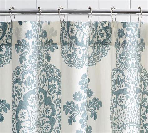 blue medallion curtains walmart lucianna medallion shower curtain pottery barn