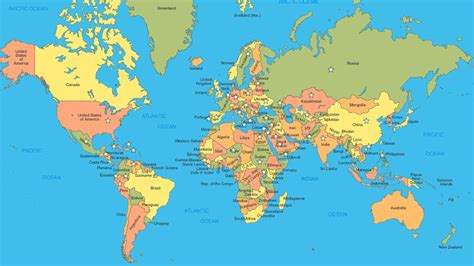 World Map Full Hd And Travel Information
