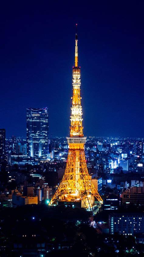 tokyo tower  night iphone  wallpaper