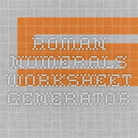 ideas roman numeral generator pinterest