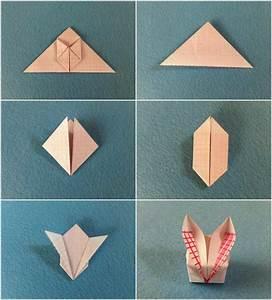 Origami Osterhase Faltanleitung Einfach : origami zu ostern falten 10 einfache und h bsche ideen mit anleitung ~ Watch28wear.com Haus und Dekorationen