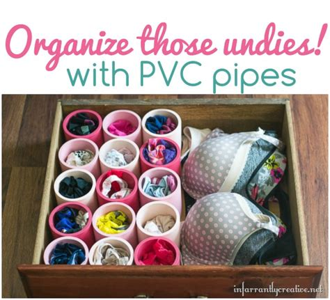 organize your undies with pvc pipes what