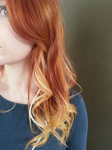 Red Hair Blonde Tips Ombre Wwwimgkidcom The Image