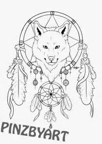Wolf Dream Catcher Drawings