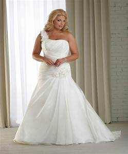 organza one shoulder bridal wedding dress ball gown plus With size 20 wedding dress