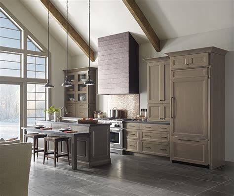 gray kitchen cabinets with island masterbrand