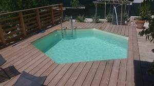 pose piscine sur terrasse en bois photos par etapes With terrasse en bois pour piscine