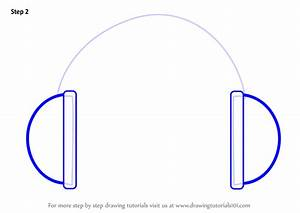 Learn How to Draw Headphones Easy (Everyday Objects) Step ...