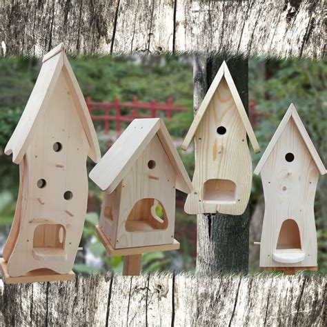 vogelhaus nistkasten bausatz vogelvilla zum selbst bemalen insektenhotel deko ebay holz