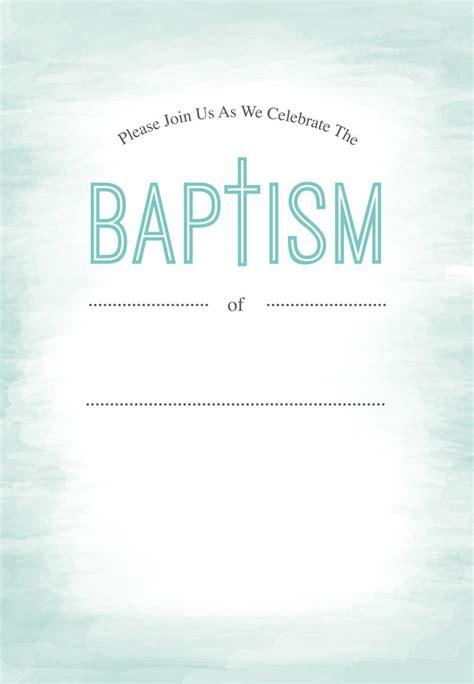 water  printable baptism christening invitation