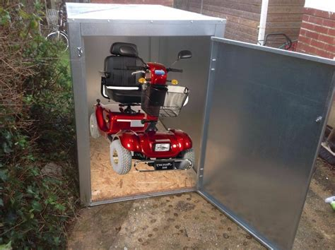 Mobility Scooter Storage Shed by New Mobility Scooter Shed Storage Box 1 2mm Galvanised