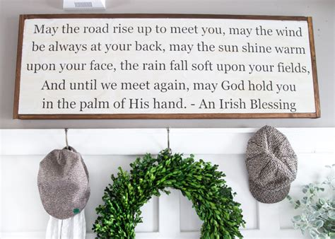 Blessings Home Decor: DIY Irish Blessing Sign And Entryway