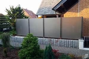Mauer Als Sichtschutz : windschutz f r die terrasse glasprofi24 ~ Eleganceandgraceweddings.com Haus und Dekorationen
