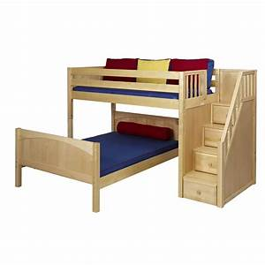 Twin Bunk Beds With Stairs Berg Furniture Utica Twin Over ...
