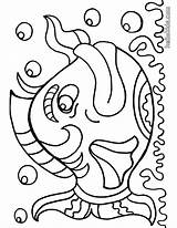 Coloring Pages Fish Printable Sheets Fishes sketch template