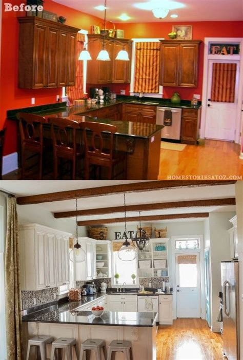 updating kitchen cabinets on a budget diy makeover old pretty before and after kitchen makeovers noted list