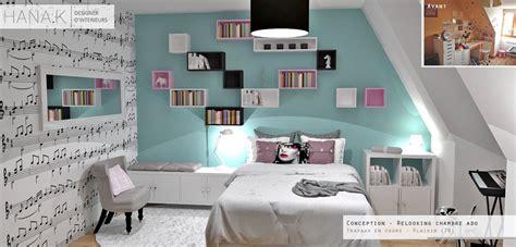 chambre ado bleu chambre de fille musicienne