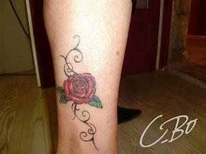 Rose En Tatouage : photos de tatouage avec fleurs faits chez c bo auray en bretagne ~ Farleysfitness.com Idées de Décoration