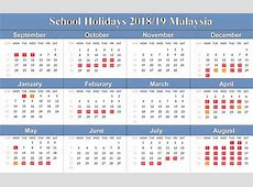 Free Yearly Printable Blank School Holidays 2019 Calendar