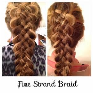 Five Strand Dutch Braid Steps
