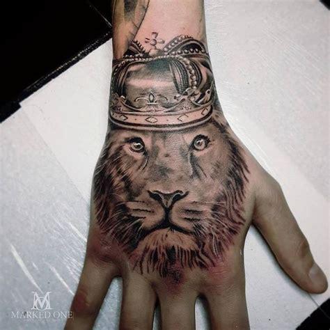 lion hand tattoo ideas  pinterest hand