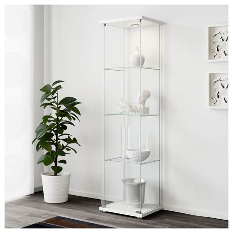white glass cabinet doors detolf glass door cabinet white 43x163 cm ikea