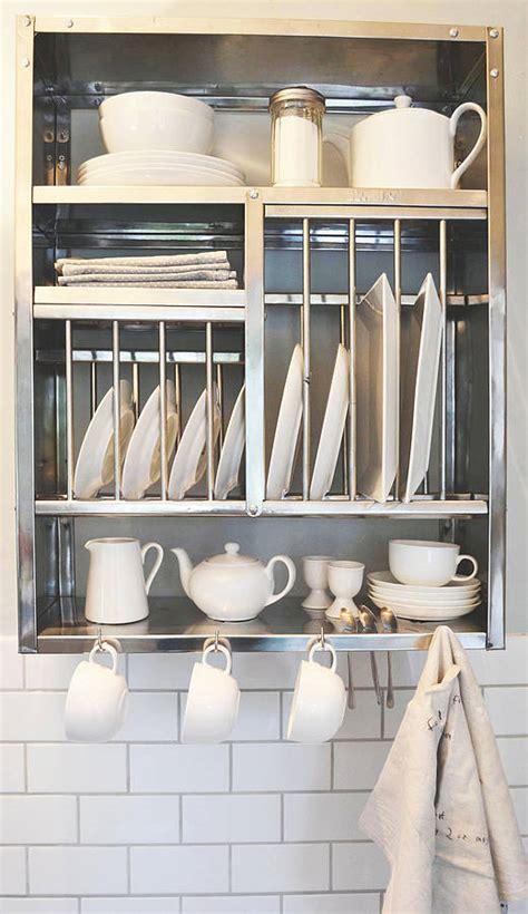 middle stainless steel plate rack   plate rack notonthehighstreetcom